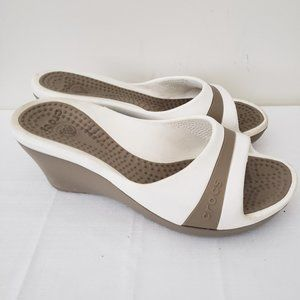 Crocs Wedge Sandals Size 6